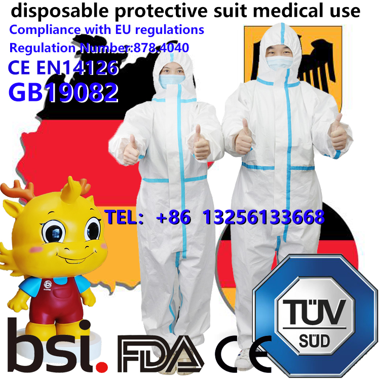 Export to Germany,disposable protective suit medical use