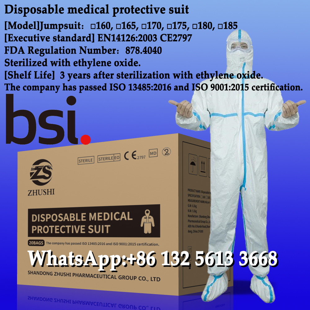 Disposable medical protective suit,Comply with EU en14126