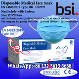 Disposable Medical face mask,3ply with Earloop,Sterile Mask,EN 14683:2019 Type IIR