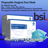 Disposable Surgical face mask,3Ply with ties,EN 14683:2019 Type IIR
